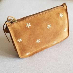 Madewell Daisy Embroidered Suede Crossbody